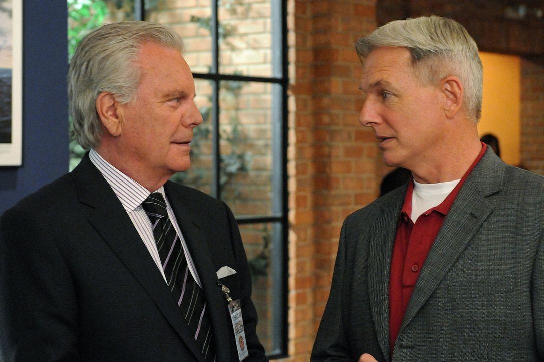 Ermitteln gemeinsam in einem neuen Fall: Gibbs (Mark Harmon, r.) und Tony Senior (Robert Wagner, l.) ... - Bildquelle: CBS Television
