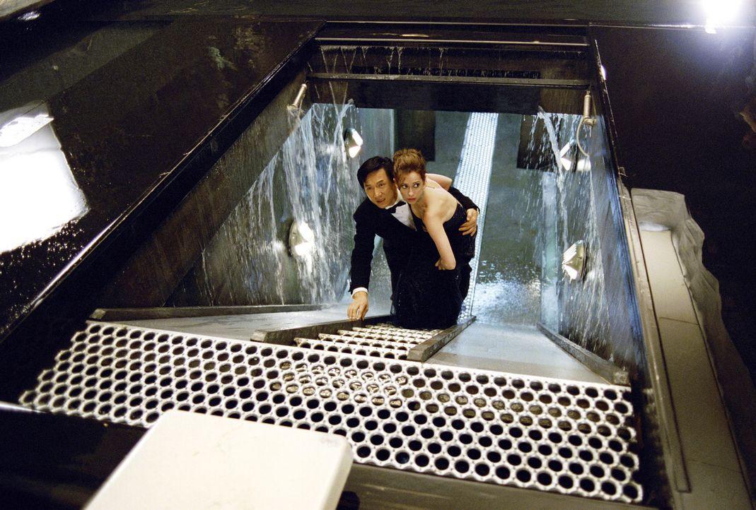 Zusammen mit der schönen, aber kratzbürstigen Wissenschaftlerin Dr. Delilah Blaine (Jennifer Love Hewitt, r.) begibt sich Jimmy (Jackie Chan, l.) au... - Bildquelle: TM &   2002 DreamWorks LLC. All Rights Reserved