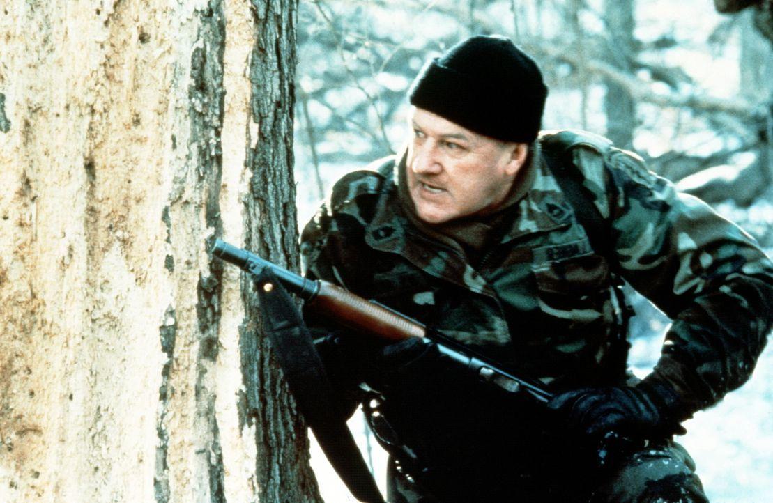 Einsamer Kämpfer für den Weltfrieden: Sergeant Johnny Galagher (Gene Hackman) ist einem grausamen Mordkomplott auf der Spur. - Bildquelle: Orion Pictures Corporation