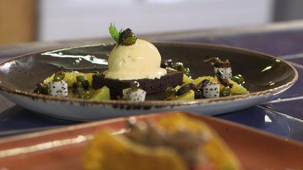 Essen der Zukunft - Auch Insekten kann man essen: karamellisierte Grillen ......