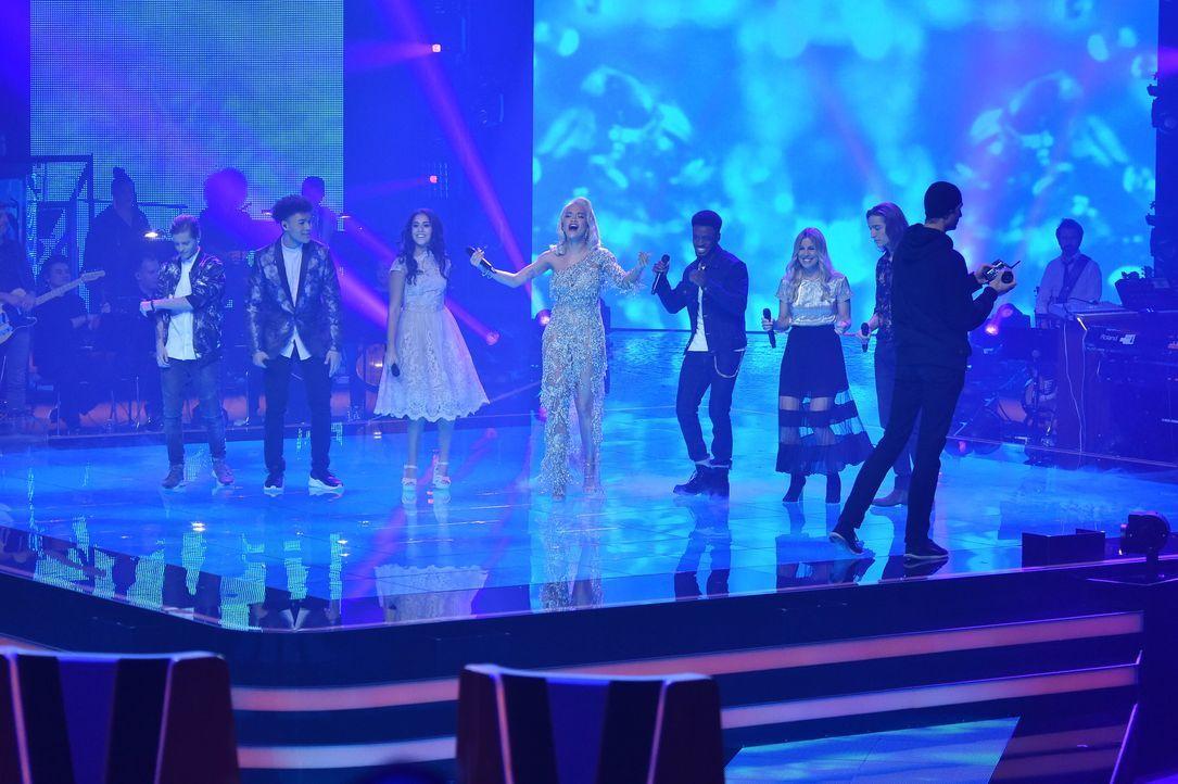 TVOG2018_Halbfinale_Benjamin,James,Linda,Rita,Clifford,Coby,Eros - Bildquelle: ProSieben/SAT.1/Andre Kowalski