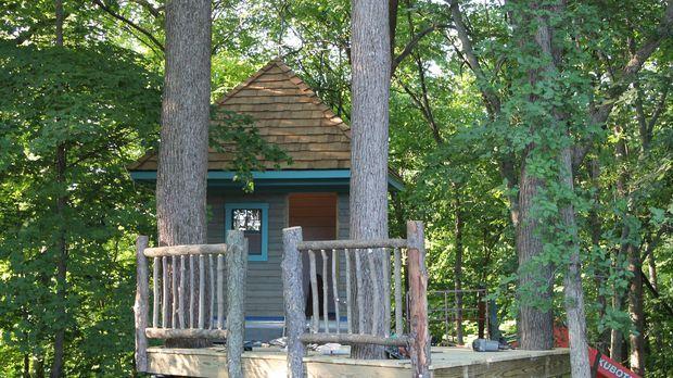 Michelle Herman und ihr Mann wünschen sich ein Baumhaus, das als Rückzugsort...