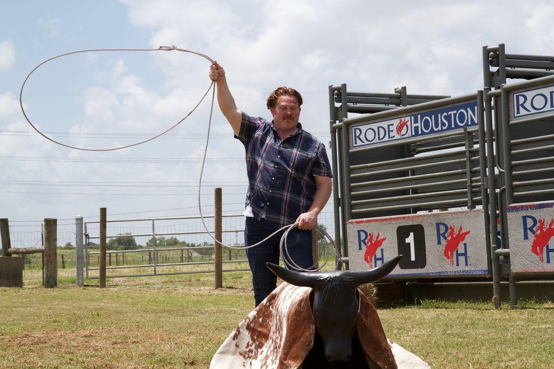 Casey Webb macht dieses Mal als Cowboy Texas unsicher ... - Bildquelle: 2017,The Travel Channel, L.L.C. All Rights Reserved.