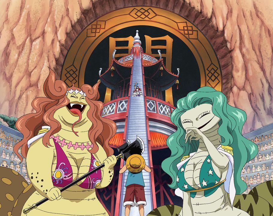 Als Ruffy während des Kampfes gegen die beiden jüngeren Schwestern der Schla... - Bildquelle: Eiichiro Oda/Shueisha, Toei Animation