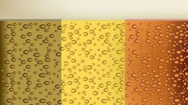 Biermuster in belgischen Nationalfarben