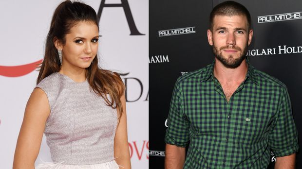 vampire diaries star nina dobrev hei e k sse mit austin stowell sixx. Black Bedroom Furniture Sets. Home Design Ideas