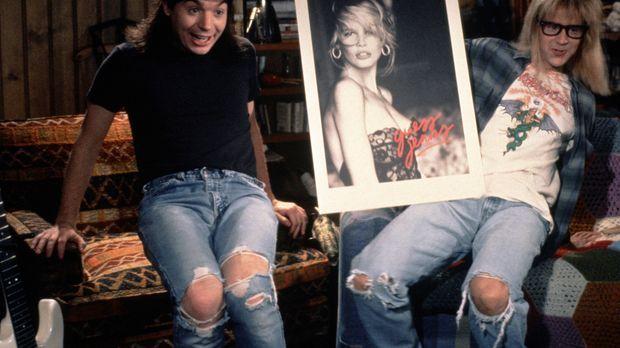 Wayne (Mike Myers, l.) und Garth (Dana Carvey, r.) drehen Blödelshows fürs Lo...