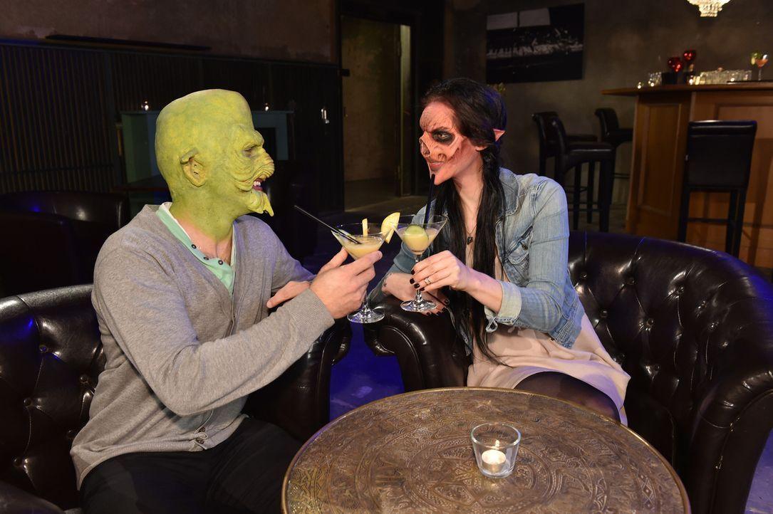Sprühen beim Date von Habib (l.) und Vanessa (r.) die Funken? - Bildquelle: Andre Kowalski Sixx