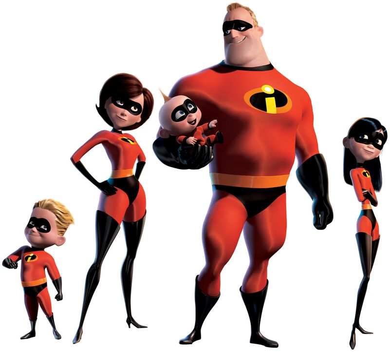 Keine gewöhnliche Familie (v.l.n.r.): Flash, Elastigirl, Baby Jack Jack, Mister Incredible und Violetta - Bildquelle: Disney/Pixar. All rights reserved