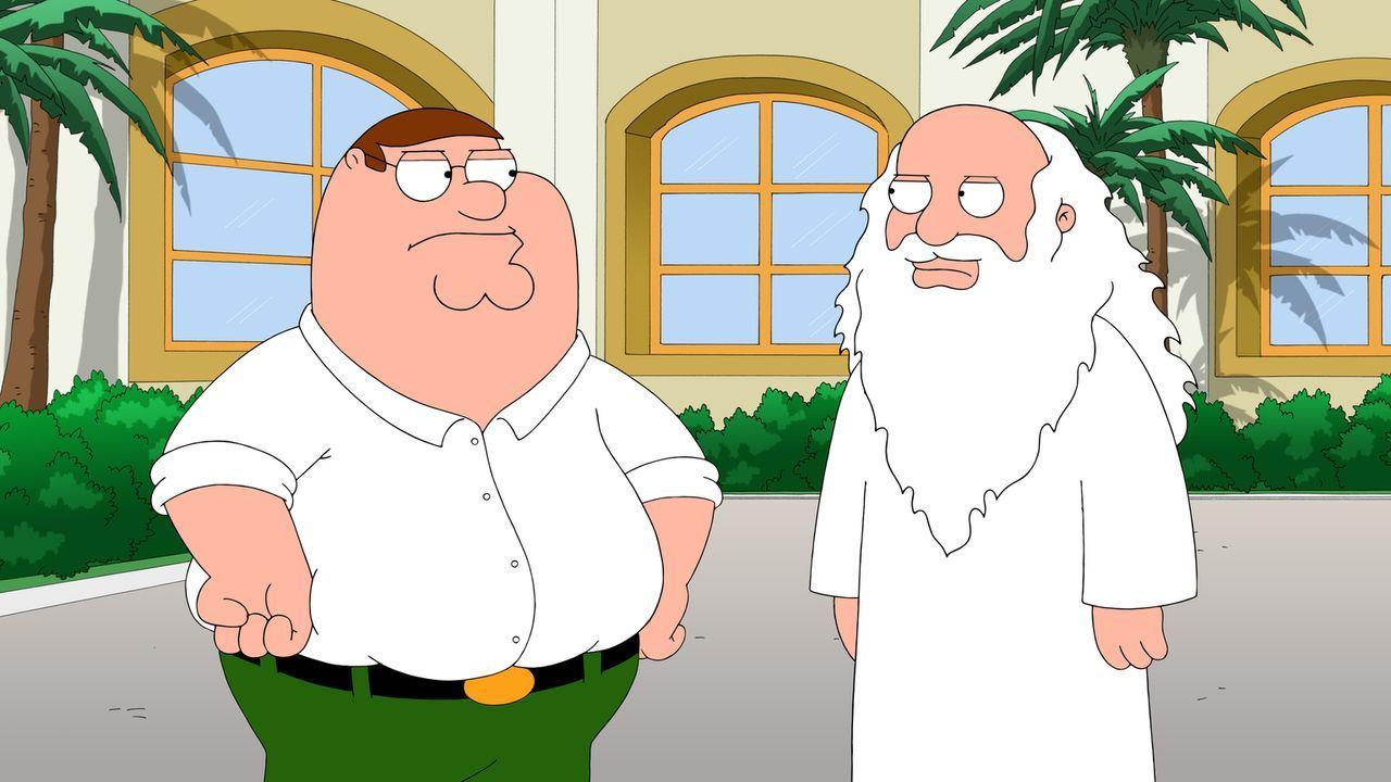 """Peter (l.) und seine Freunde machen sich auf die Suche nach dem """"Lieben Gott"""" (r.). Als sie ihn aufspüren, schließen sie einen Deal mit ihm ... - Bildquelle: 2014 Twentieth Century Fox Film Corporation. All rights reserved."""