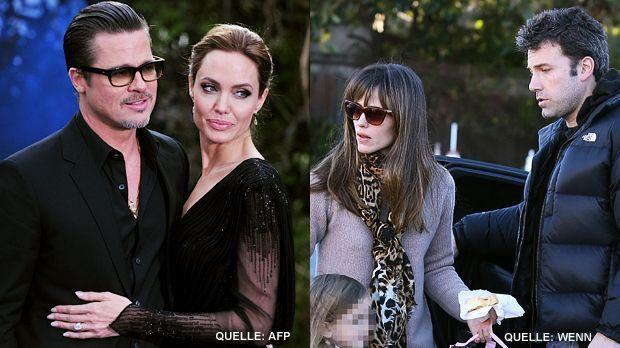 TOP Angelina Jolie und Brad Pitt FLOP Jennifer Garner und Ben Affleck - Bildquelle: AFP / WENN.com