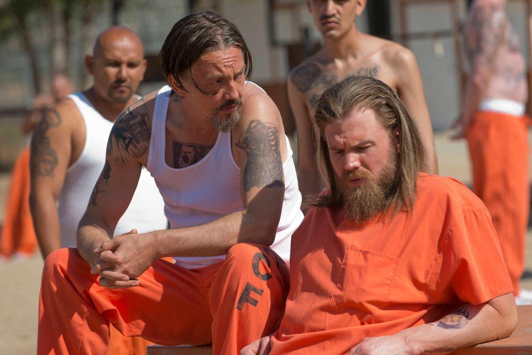Noch glauben Chibs (Tommy Flanagan, l.) und Opie (Ryan Hurst, r.), mit den anderen Gefangenen klarzukommen ... - Bildquelle: 2012 Twentieth Century Fox Film Corporation and Bluebush Productions, LLC. All rights reserved.
