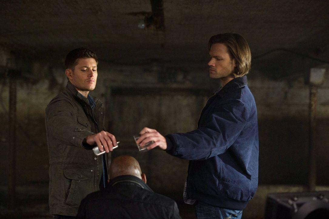 Was Sam (Jared Padalecki, r.) und Dean (Jensen Ackles, l.) von dem Kreuzungsdämon erfahren, sorgt für einige Verwirrungen ... - Bildquelle: Warner Bros. Television