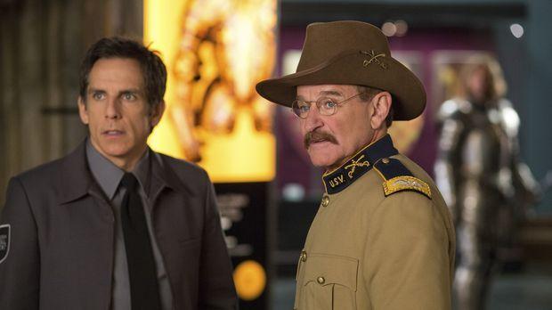 Nachts im Museum sind Larry (Ben Stiller, l.) und Teddy Roosevelt (Robin Will...