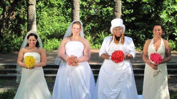 Vier Bräute treten an, im Wettkampf um das schönste Hochzeitsfest: Amanda (2....