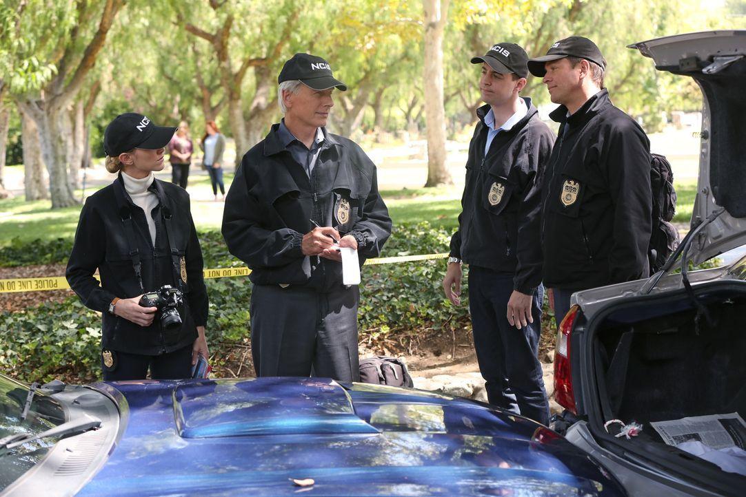 Eine hochgiftige Substanz sorgt für große Aufregung. Doch können Tony (Michael Weatherly, r.), Gibbs (Mark Harmon, 2.v.l.), McGee (Sean Murray, 2.v.... - Bildquelle: Monty Brinton CBS Television