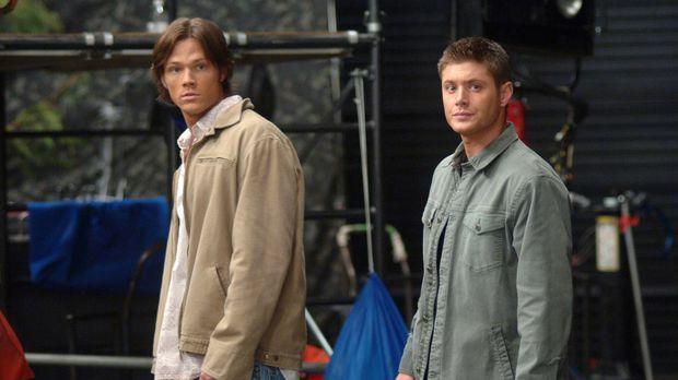 Sam (Jared Padalecki, l.) und Dean (Jensen Ackles, r.) machen einen Trip nach...