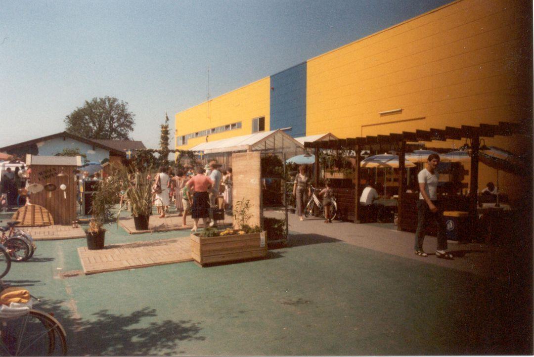IKEA Eching 1974 Aussenbereich 1