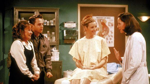 Phoebe (Lisa Kudrow, 2.v.r.) ist sich noch nicht sicher, ob sie für Frank (Gi...