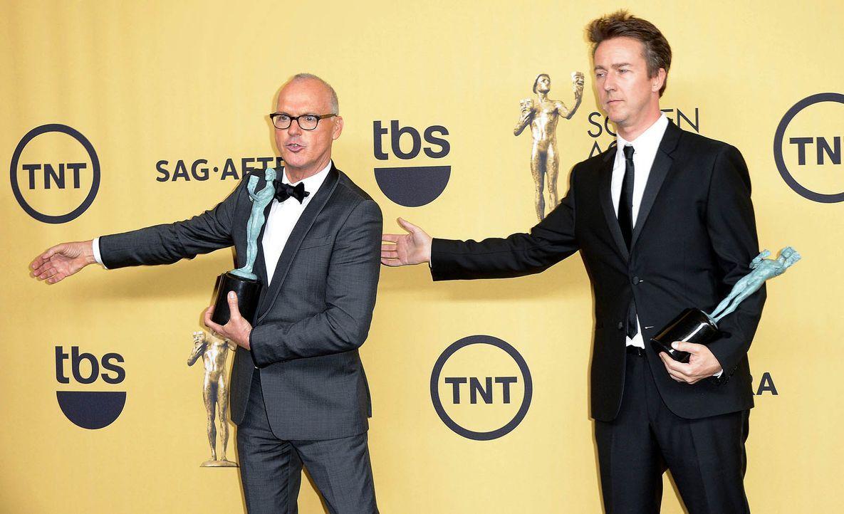 SAG-Awards-Michael-Keaton-Edward-Norton-15-01-25-dpa - Bildquelle: dpa