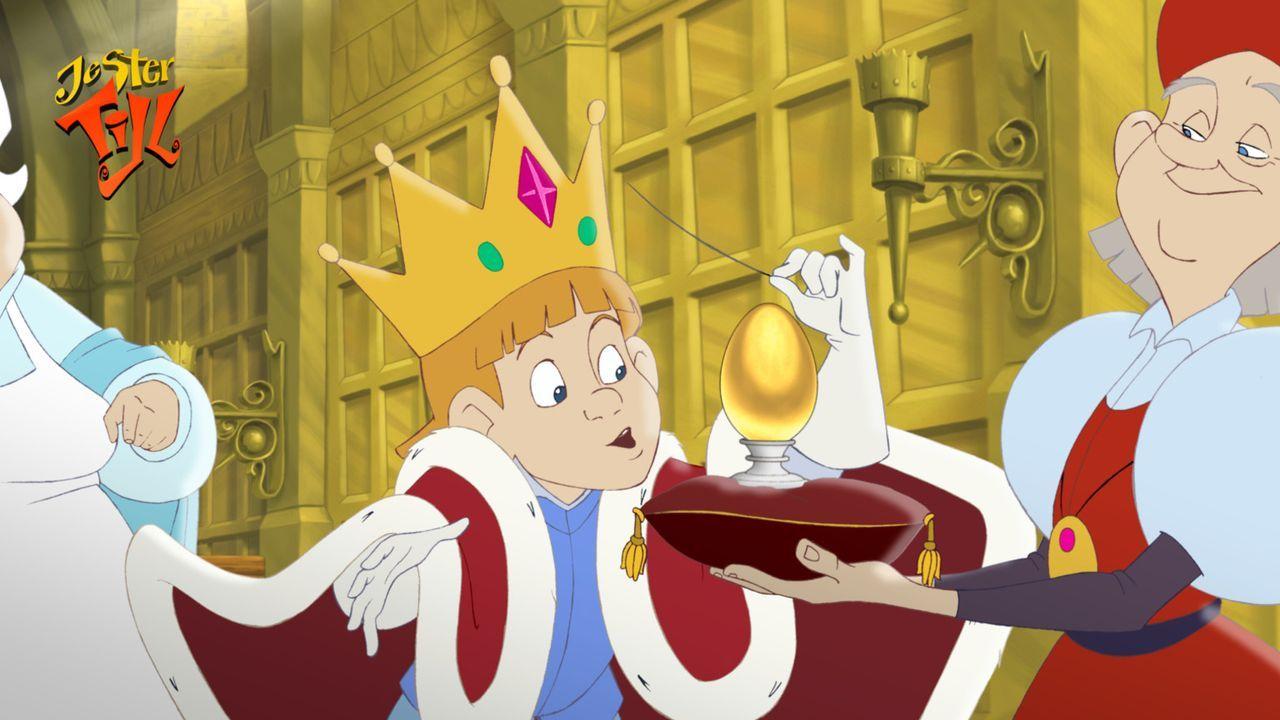 Der kleine König Rupert ahnt nicht, dass dies eine quicklebendige Geburtstagsüberraschung wird ? - Bildquelle: Capella Films International