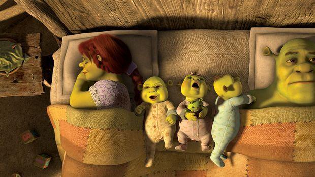 Für immer Shrek - Eigentlich führt Shrek (r.) ein glückliches Leben mit seine...