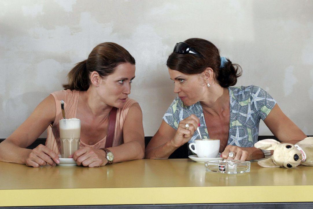 Eva (Anja Kling, l.) braucht dringend den Rat ihrer besten Freundin Maren (Gerit Kling, r.) ... - Bildquelle: Noreen Flynn Sat.1