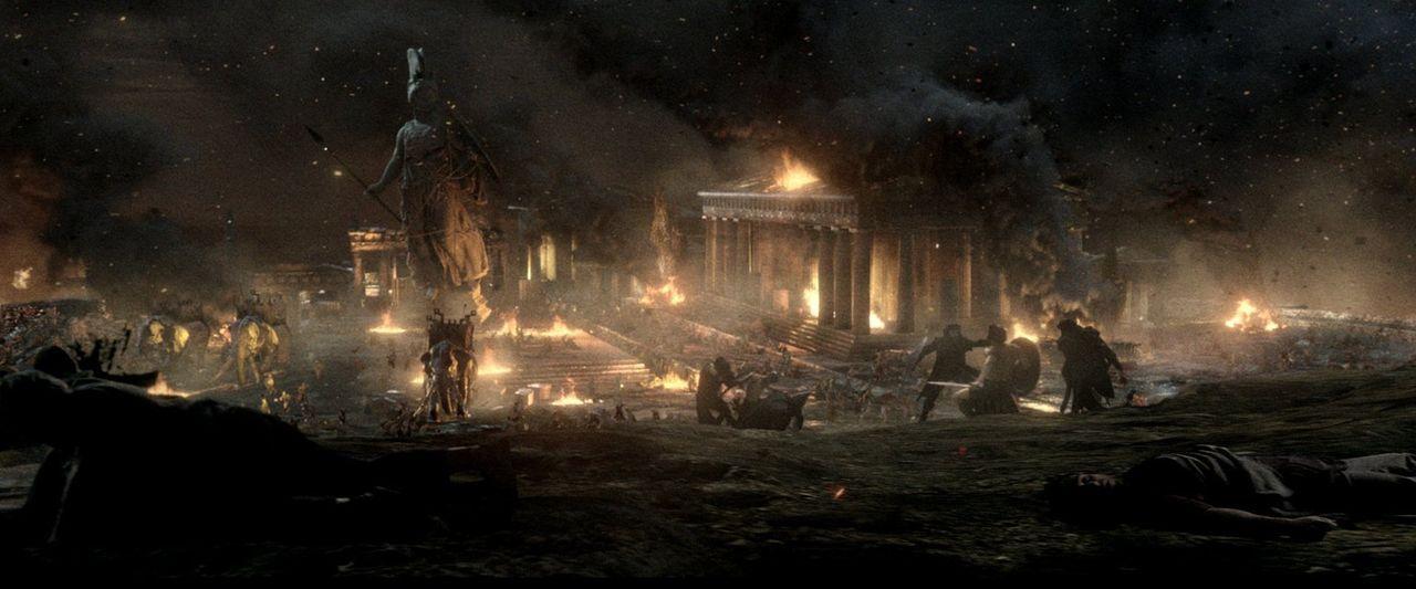 Athen soll brennen: Der Perser-König Xerxes befiehlt die Belagerung Athens durch seine Armee, um Griechenland ein für alle Mal einzunehmen und Rache... - Bildquelle: 2014 Warner Bros. Entertainment, Inc.