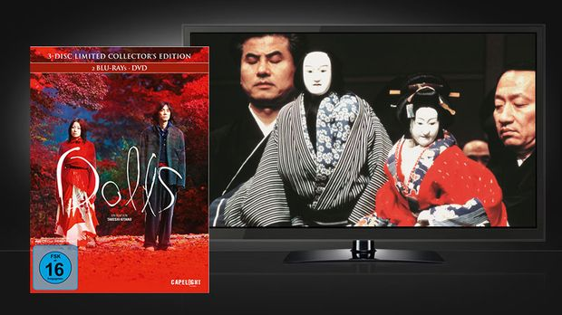 Takeshi Kitanos Dolls - Szene und Blu-ray Cover © Capelight Pictures