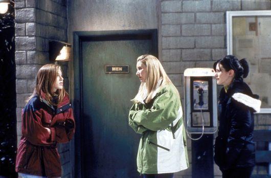 Friends - Rachel (Jennifer Aniston, l.) hat großen Kummer. Ihre Freundinnen M...