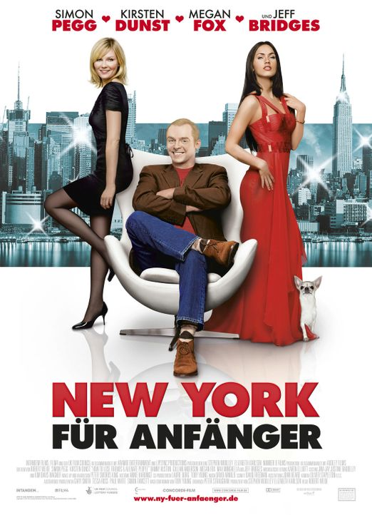 New York für Anfänger: Alison Olsen (Kirsten Dunst, l.), Sidney Young (Simon Pegg, M.) und Sophie Maes (Megan Fox, r.) ... - Bildquelle: UK Film Council/ Channel Four Television Corporation /Alienate Limited 2008