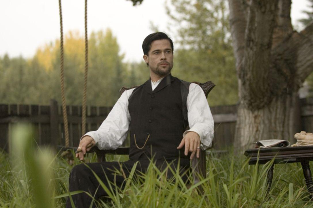 Jesse James (Brad Pitt) wird zur Gefahr für alle Gangmitglieder. Er ist zwar einerseits charismatisch und ein begabter Anführer, jedoch auch unvorhe... - Bildquelle: TM and   2007 Warner Bros. Entertainment Inc. All Rights Reserved.