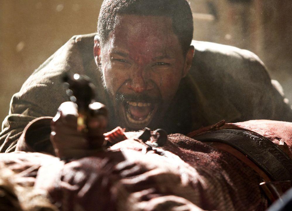 Schon bald ist Django (Jamie Foxx) ein gefürchteter Kopfgeldjäger, der den bösen Buben das Leben verdammt schwer macht. Doch noch immer will er eige... - Bildquelle: 2012 Columbia Pictures Industries, Inc.  All Rights Reserved.