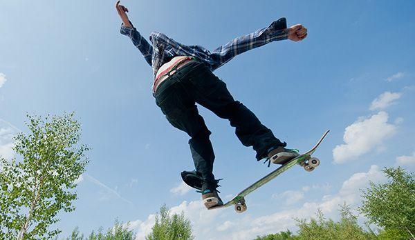 Platz 9: Skateboard - Bildquelle: Verwendung weltweit, usage worldwide