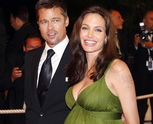 Galerie: Angelina Jolie und Brad Pitt - Bildquelle: AFP