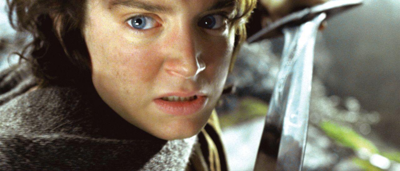 Frodo (Elijah Wood) hat sich mit seinem Freund Sam in den Wäldern von Emyn Muil verlaufen, wo sie von dem ehemaligen Ringträger Gollum verfolgt werd... - Bildquelle: Warner Brothers