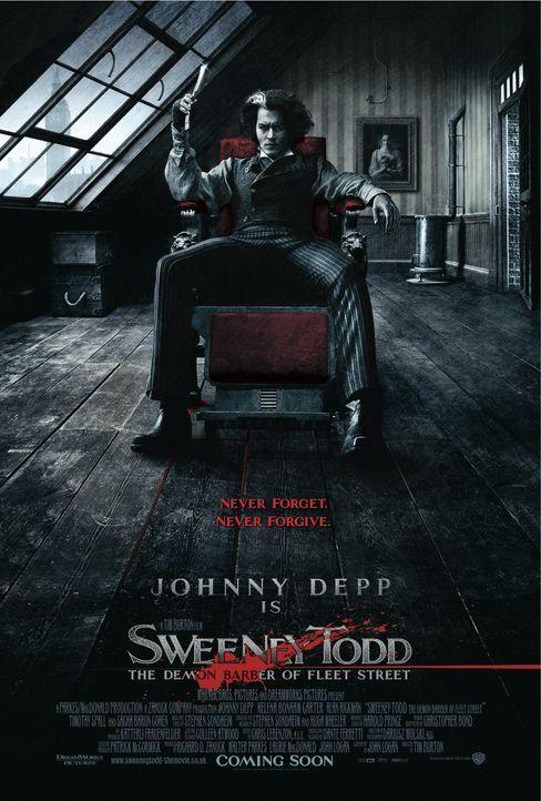 Sweeney Todd - Der teuflische Barbier aus der Fleet Street - Plakatmotiv - Bildquelle: Warner Bros.
