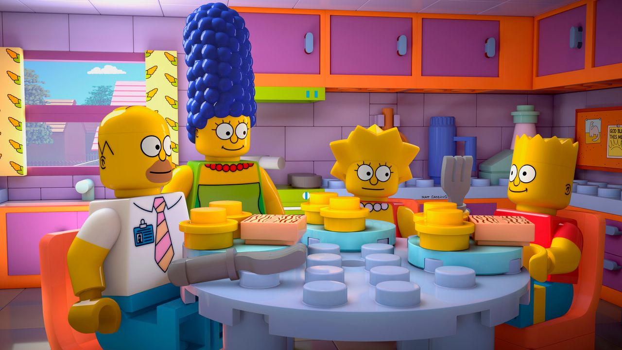 Familie Simpson komplett aus Legosteinen: (v.l.n.r.) Homer, Marge, Lisa und Bart ... - Bildquelle: 2013 Twentieth Century Fox Film Corporation. All rights reserved.