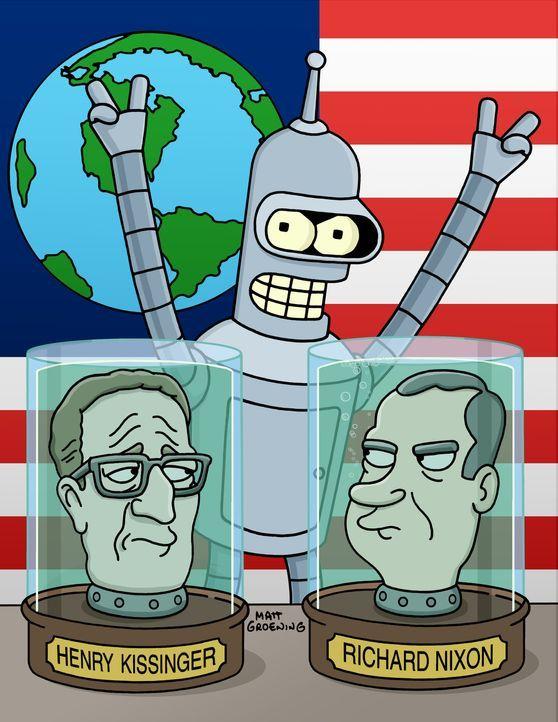 Leela, Bender (M.) und Fry haben sich als Freiwillige für die Armee gemeldet, ohne zu wissen, dass es bald zum Krieg mit dem Planeten Spheron Eins k... - Bildquelle: und TM Twenthieth Century Fox Film Corporation - Alle Rechte vorbehalten