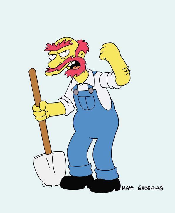 (15. & 16. Staffel) - Mit ihm ist nicht gut Kirschen essen: Hausmeister Willie. - Bildquelle: und TM Twentieth Century Fox Film Corporation - Alle Rechte vorbehalten