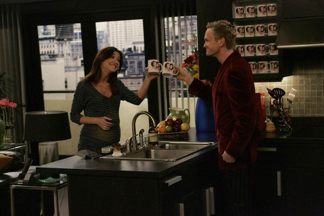 Haben einen durchtriebenen Plan: Barney (Neil Patrick Harris, r.) und Lily (Alyson Hannigan, l.) ... - Bildquelle: Robert Voets 20th Century Fox International Television