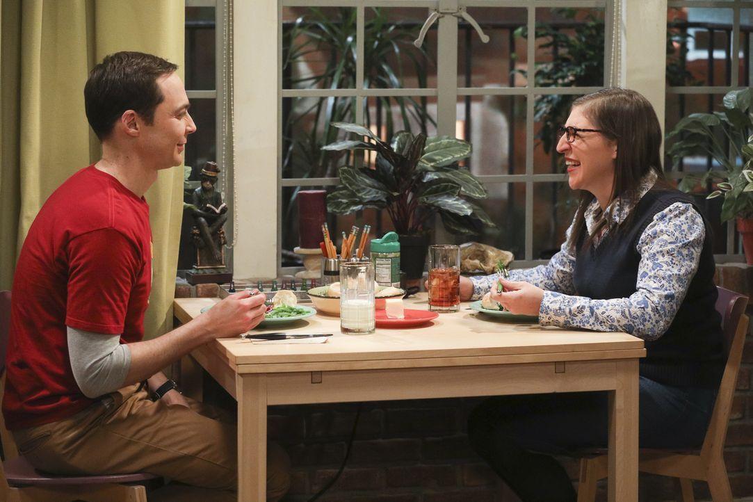 Sheldon (Jim Parsons, l) und Amy (Mayim Bialik, r.) haben mit Veränderungen im Comicbuchladen und Streitereien im Freundeskreis zu kämpfen ... - Bildquelle: Warner Bros. Television