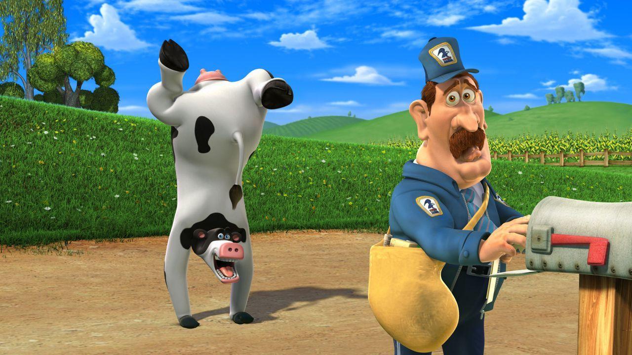 Kuh Otis (l.) ist der heißeste Tänzer des Bauernhofs, ansonsten hat er nur Streiche im Sinn ... - Bildquelle: Paramount Pictures