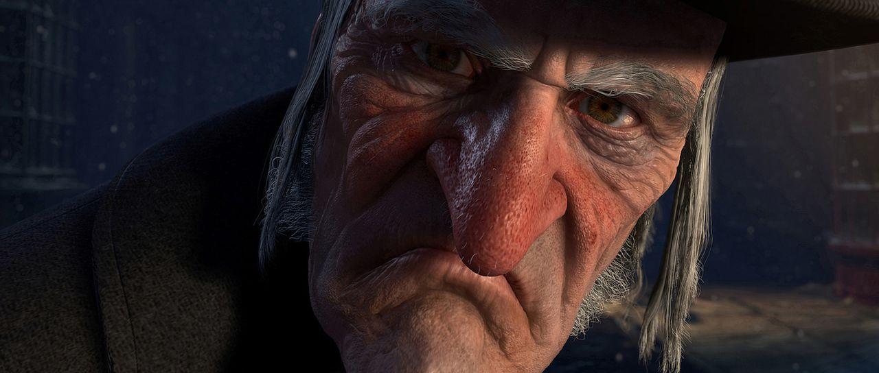 Am Heiligabend bekommt der selbstsüchtige und geizige Ebenezer Scrooge (Jim Carrey) Besuch von seinem bereits verstorbener Freund Marley, der ihm e... - Bildquelle: Walt Disney Pictures/Imagemovers Digital, LLC.