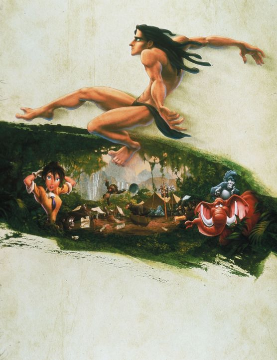 Tarzan -Artwork - Bildquelle: Edgar Rice Burroughs Inc. and Disney