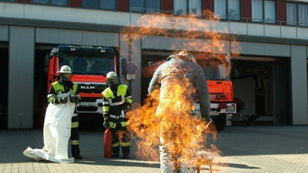 brennende kleidung