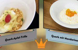 """Dessert von den beiden Kandidaten Sandra und Pamela von """"Küchenkönigin&q..."""