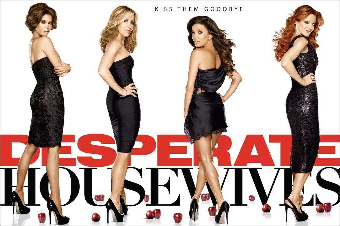 (8. Staffel) - Neue Dramen ereignen sich in der Wisteria Lane: Lynette (Felicity Huffman, 2.v.l.), Bree (Marcia Cross, r.), Gabrielle (Eva Longoria,... - Bildquelle: ABC Studios