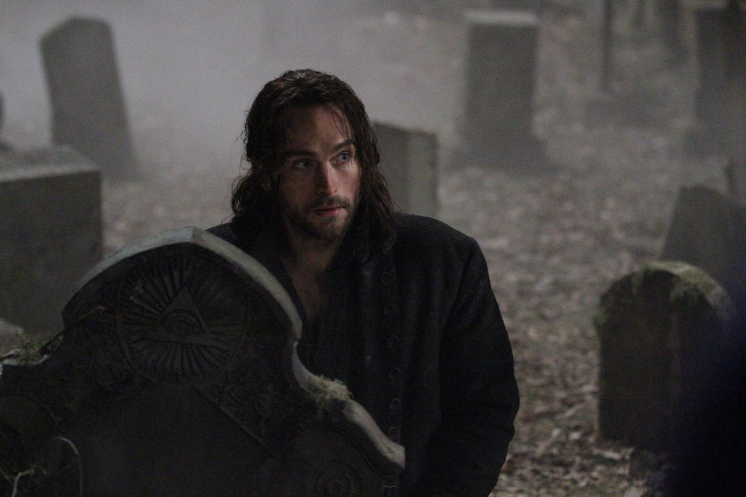 Ichabod Crane (Tom Mison) war Captain des Amerikanischen Unabhängigkeitskrieges. Als er in der Schlacht einen Reiter enthauptet, wird er in die heut... - Bildquelle: 2013 Twentieth Century Fox Film Corporation. All rights reserved.