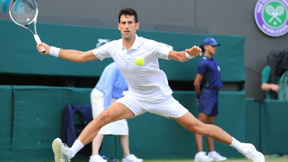 Novak Djokovic erreicht in Wimbledon das Viertelfinale - Bildquelle: SID